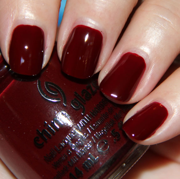 China Glaze Velvet Bow