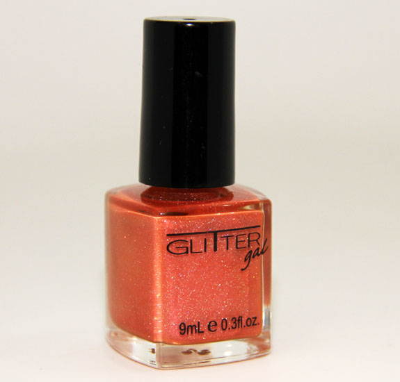 Glitter Gal Orange Nail Polish