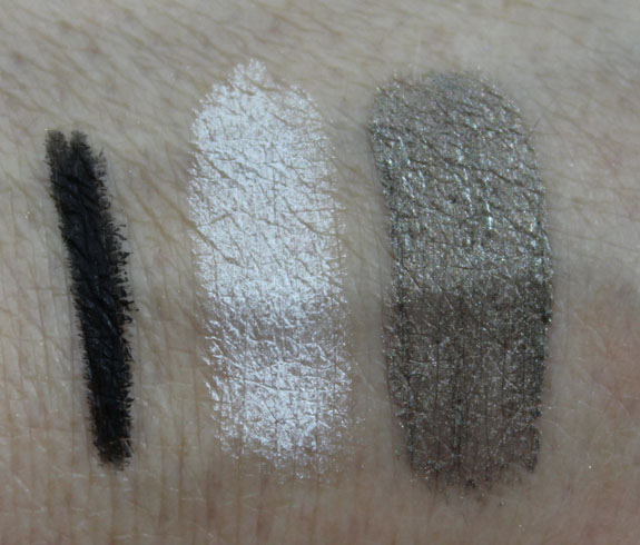 Nuance Lights Camera Action Eye Trio Pweter Silver Shimmer Swatch