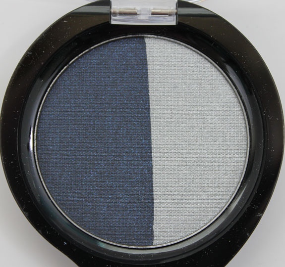Nuance Mineral Eyeshadow Duo Midnight Blue Silver Steel