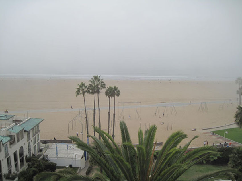 Santa Monica Beach Fog