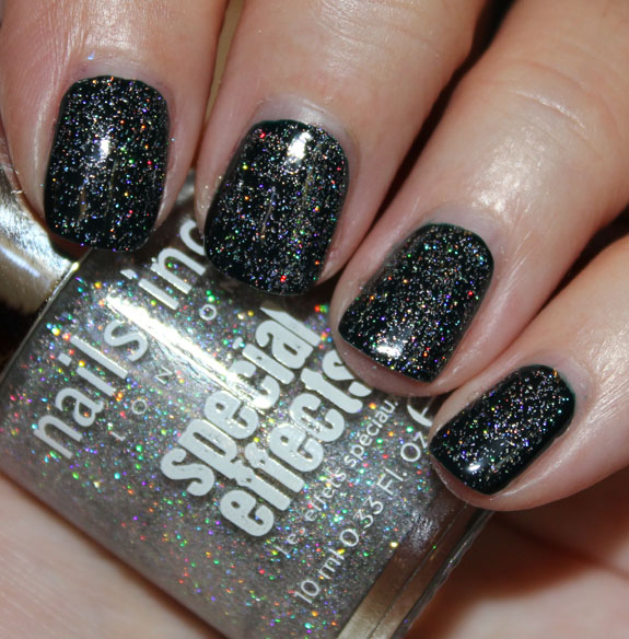 Ecial Effects Holographic Top Coat Electric Lane Swatch 2
