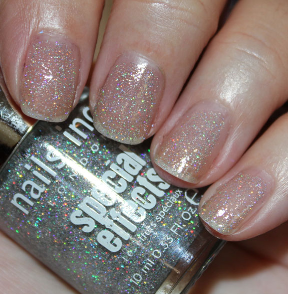Ecial Effects Holographic Top Coat Electric Lane Swatch