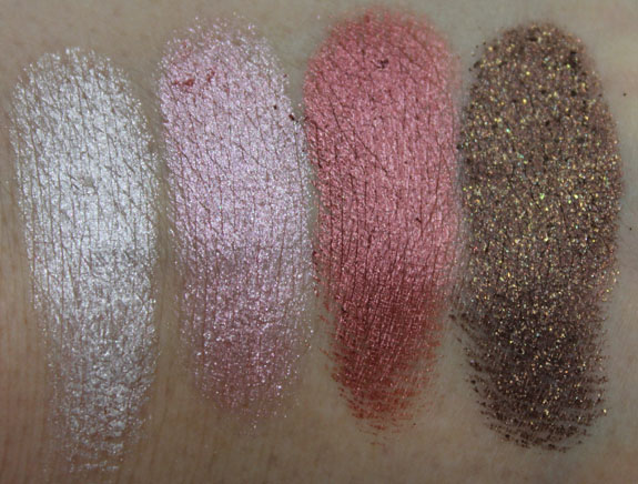 MAC Dazzlesphere Crushed Pigments Smoky Berry Ornament Swatches