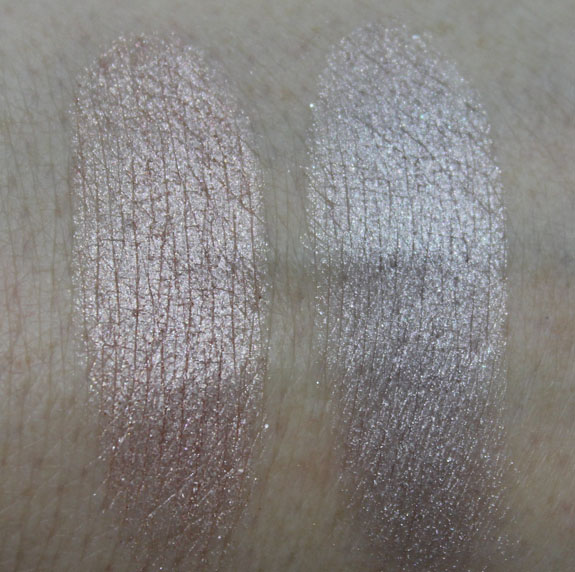 MAC Glitter and Ice Mineralize Eye Shadow Swatches