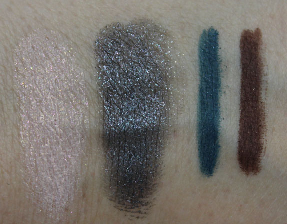 MAC Glitter and Ice Paint Pot and Technakohl Liner Swatches