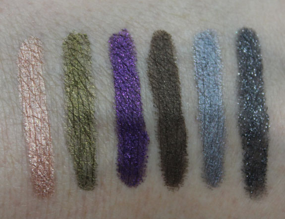 Tarte Smolder Eyes Amazonian Clay Waterproof Liner Collection Swatches