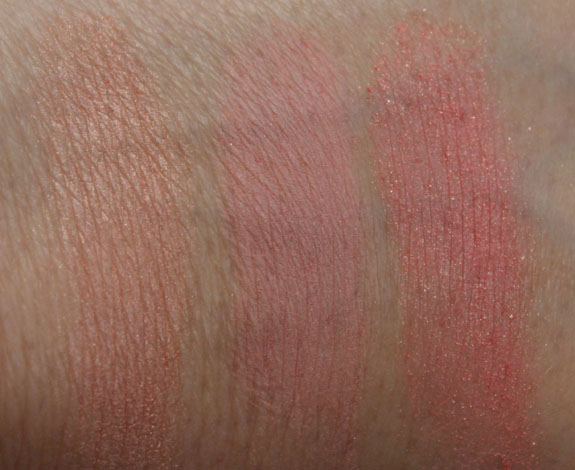 Benefit Hervana Comparison Swatches