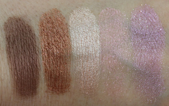 Laura Mercier Baked Eye Colour Palette Swatches Dry
