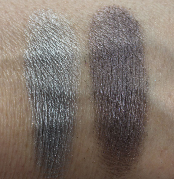 Mac Glitter  Ice Mineralize Eye Shadow Swatches