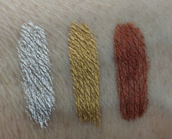 NYX Slide On Waterproof Liners Swatches