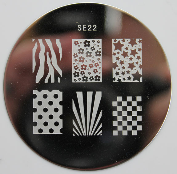 Salon Express Nail Art Stamping Kit CVS Plates 6