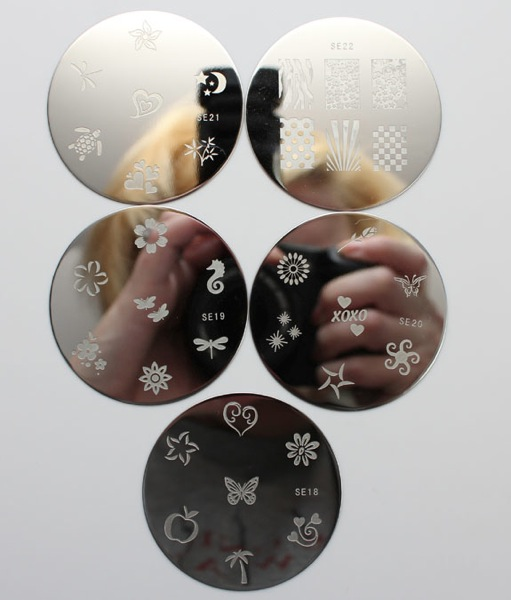 Salon Express Nail Art Stamping Kit CVS Plates