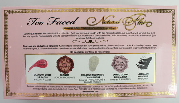 Too Faced Natural Flirt Makeup Collection 3 Exclusive! Too Faced Natural Flirt Makeup Collection for Spring 2012 Swatches, Photos & Review