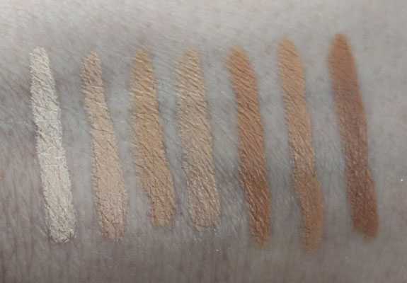 Urban Decay 24 7 Concealer Pencils Swatches