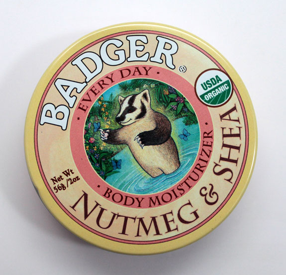 Badger Balm Nutmeg  Shea Body Moisturizer