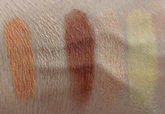 Estee Lauder Pure Color Five Color EyeShadow Palette Topaz Mosaic Swatches