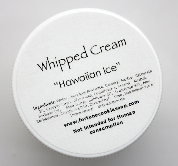 Fortune Cookie Soap Whipped Cream Hawaiian Ice