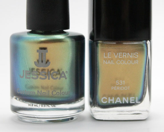 Jessica Iridescent Eye and Chanel Peridot