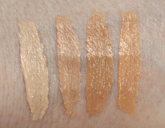 MAC Mineralize Perfectly Finished Concealer Swatches