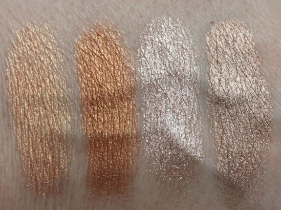 MAC Vera Crushed Metallic Pigment Aloha Swatches