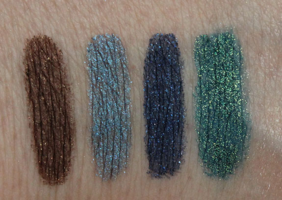 MAC Vera Pearlglide Intense Eye Liner Swatches