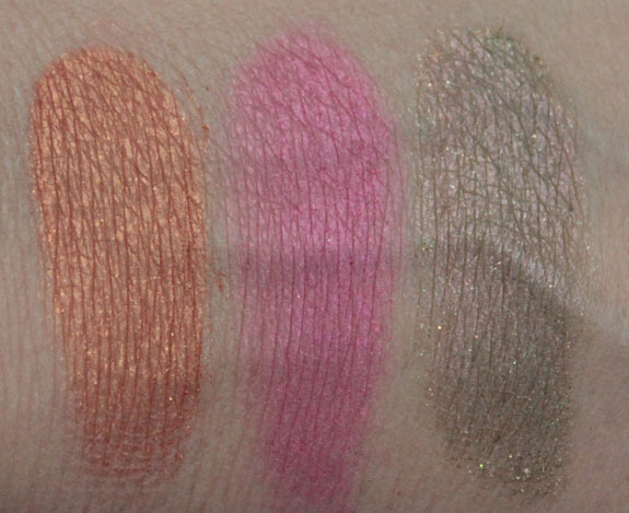 Milani Baked Eyeshadow Dry Swatches