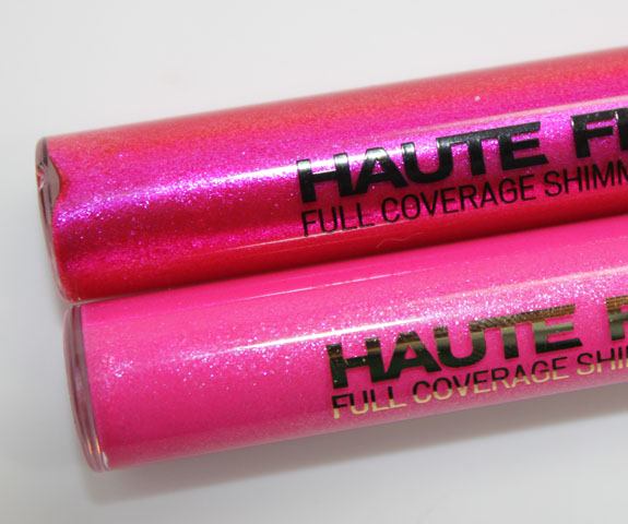 Milani Haute Flash Full Coverage Shimmer Lipgloss Flashy Comparison