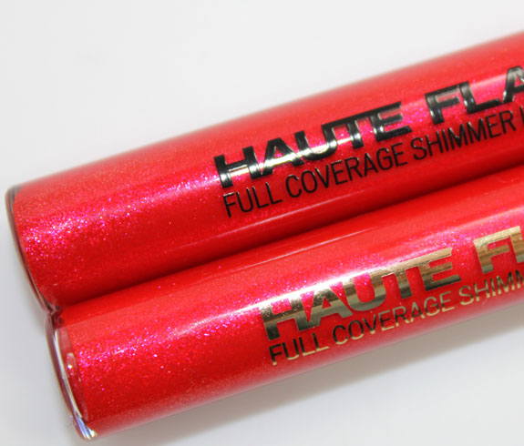 Milani Haute Flash Full Coverage Shimmer Lipgloss Hot Flash Comparison