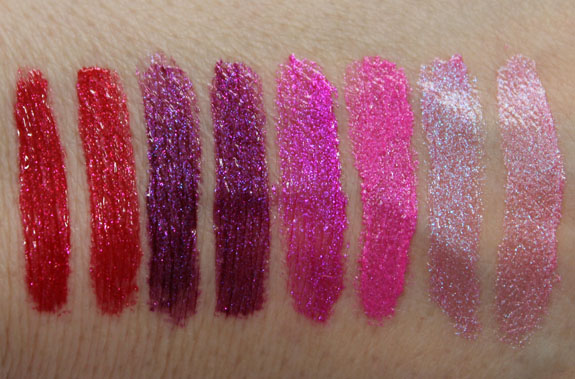 Milani Haute Flash Full Coverage Shimmer Lipgloss Swatches Old and New