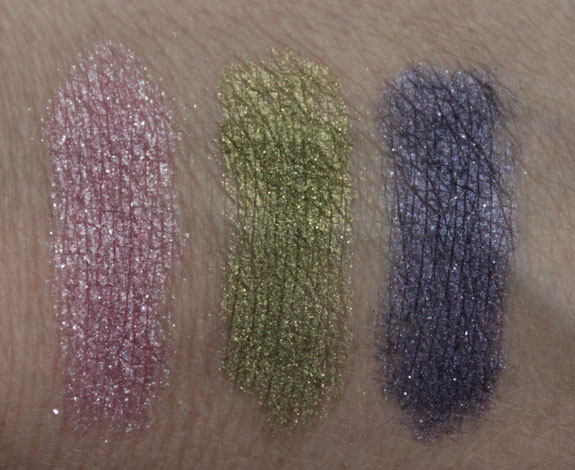 NYX Roll On Shimmer Swatches NYX Roll On Shimmer for Spring 2012 Swatches & Review