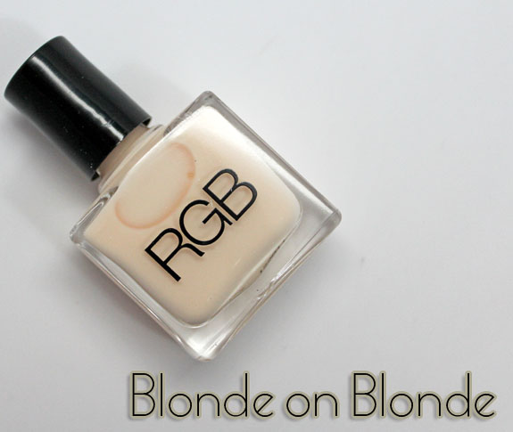 RGB Blonde on Blonde RGB Blonde on Blonde for Spring 2012 Swatches & Review