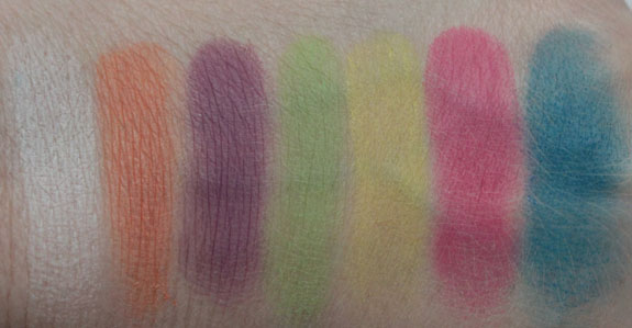 Milani Eyeshadow Palette Paint Swatches