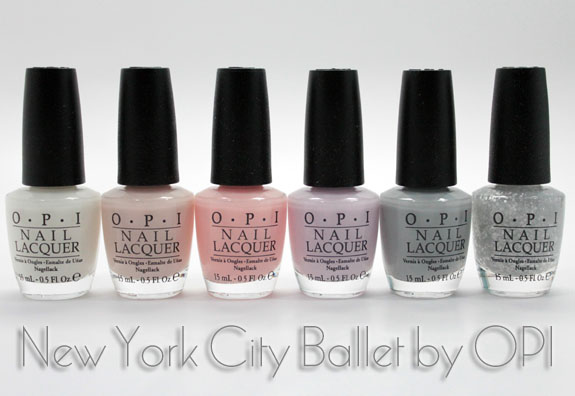 OPI New York City Ballet OPI New York City Ballet Collection Swatches & Review