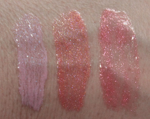 Stila Sparkle Luxe Gloss Swatches