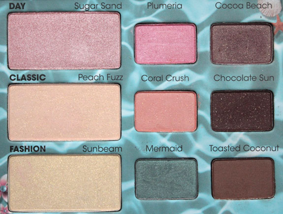 Too Faced Summer Eye Palette 41 Too Faced Summer 2012 Collection Swatches & Review