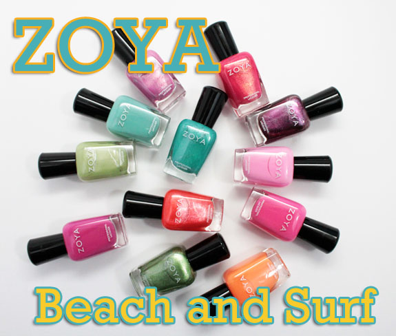 Zoya Beach Surf Collections For Summer 2012 Swatches Review