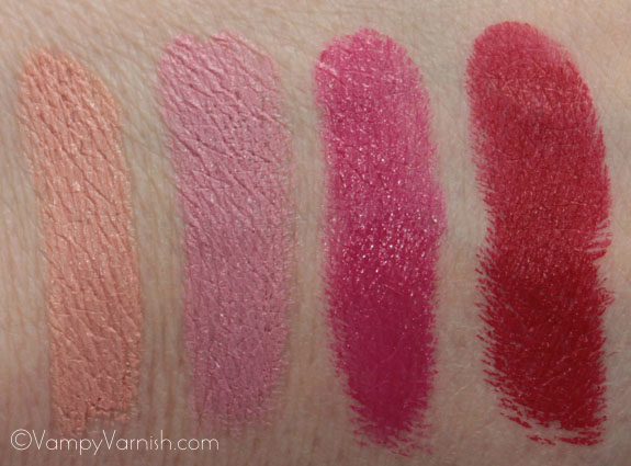 MAC Fashion Sets Lipstick Swatches MAC Fashion Sets Collection Swatches, Photos & Review