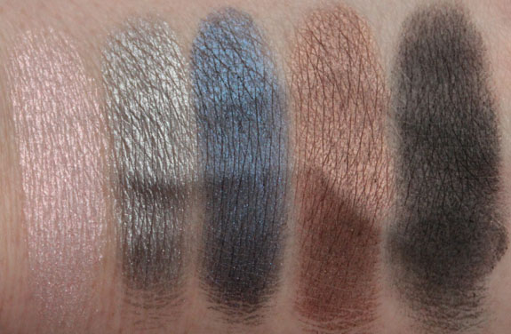 MAC In Extra Dimension Skinfinish Eye Shadow Swatches