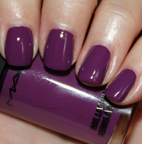 MAC Reel Sexy Nail Lacquer In The Dark Purple