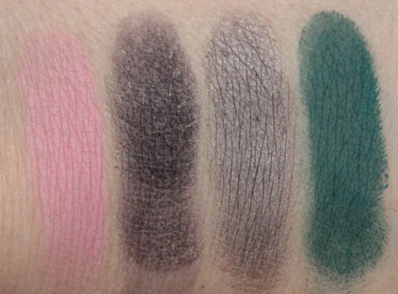 MAC Reel Sexy Pro Palette Eye Shadow X2 Swatches