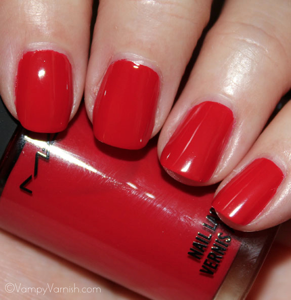MAC Russian Red Nail Lacquer MAC Fashion Sets Collection Swatches, Photos & Review