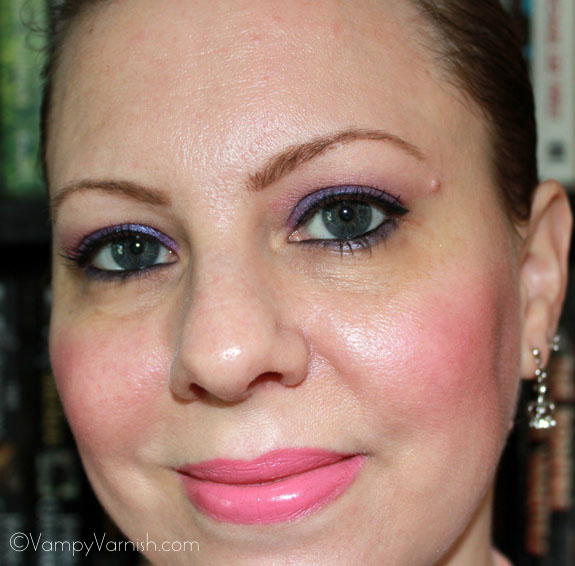 Me Wearing Milani Shadow Eyez Royal Purple
