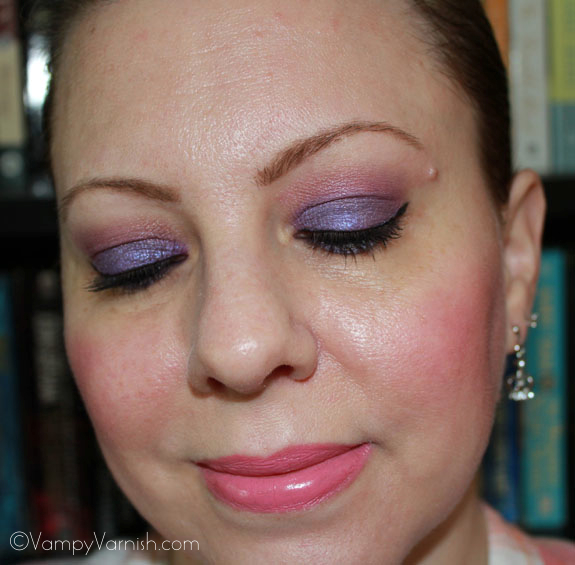 Me wearing Milani Shadow Eyez in Royal Purple 2