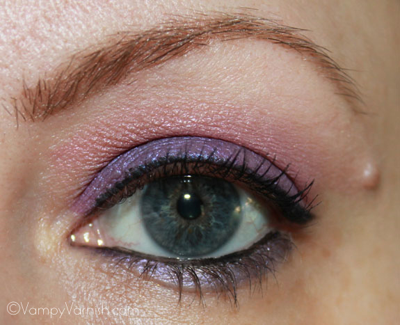 Me wearing Milani Shadow Eyez in Royal Purple 3
