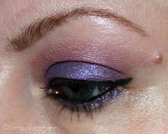 Me wearing Milani Shadow Eyez in Royal Purple 4