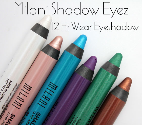 Milani Shadow Eyez 12 Hr Wear Eyeshadow 2 Milani Shadow Eyez 12 Hr Wear Eyeshadow Pencils for Spring 2012 Swatches, Photos & Review