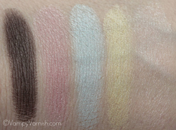 NYX Spring Fling Palette Swatches 2