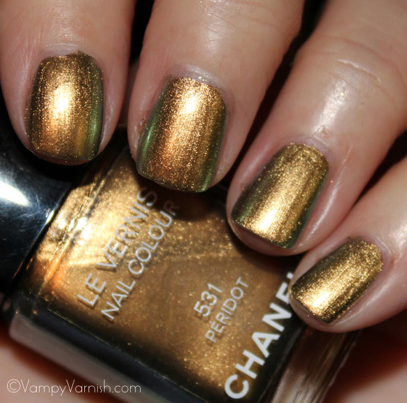 OPI Just Spotted The Lizard and Chanel Peridot1 OPI Spider Man Collection Swatches & Review
