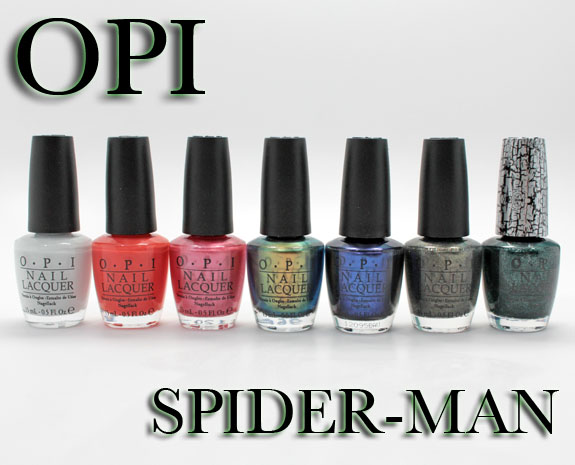 OPI Spider Man OPI Spider Man Collection Swatches & Review
